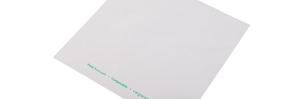 260x260 mm-es átlátszó/fehér zacskó 33,8 Ft/db