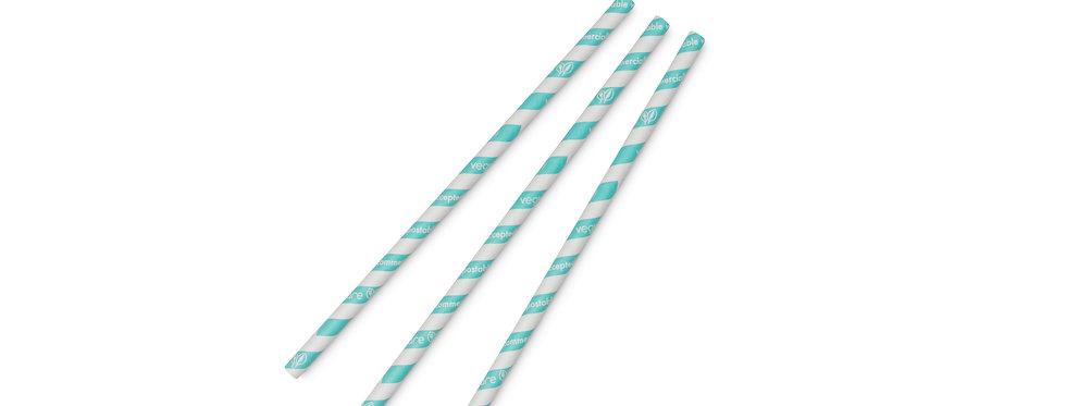 8 mm-es kék komposztálható papír szívószál 10 Ft/db