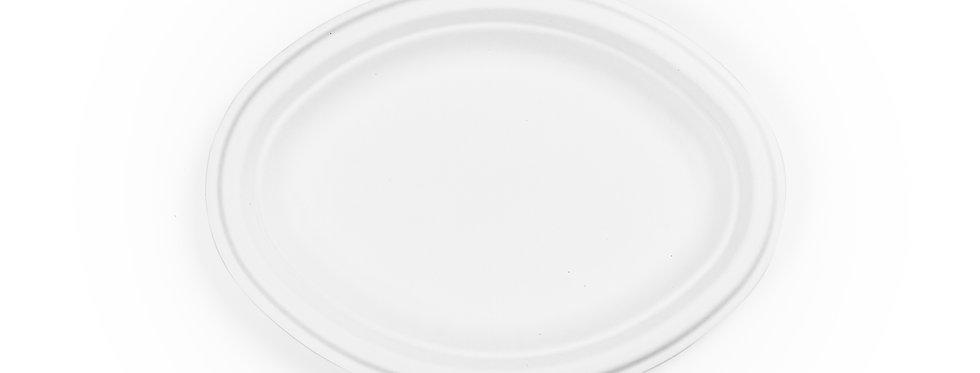 25cm-es ovális cukornád tányér 36 Ft/db