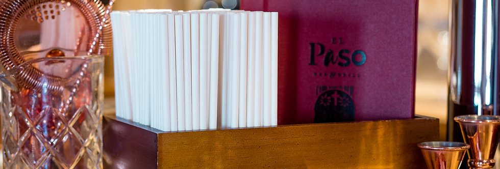 Fehér komposztálható papír szívószál 200mm hossz 12Ft/db