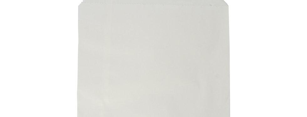 17,7x17,7 cm-es újrahasznosított fehér  zacskó 3,8 Ft/db