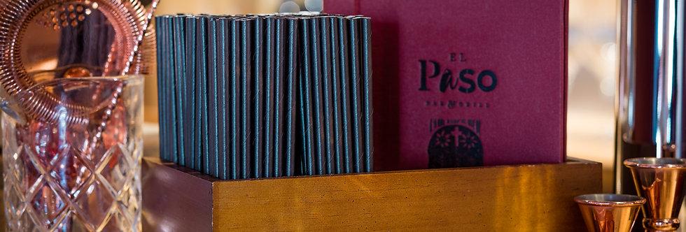 Fekete komposztálható papír szívószál 200mm hossz 12Ft/db