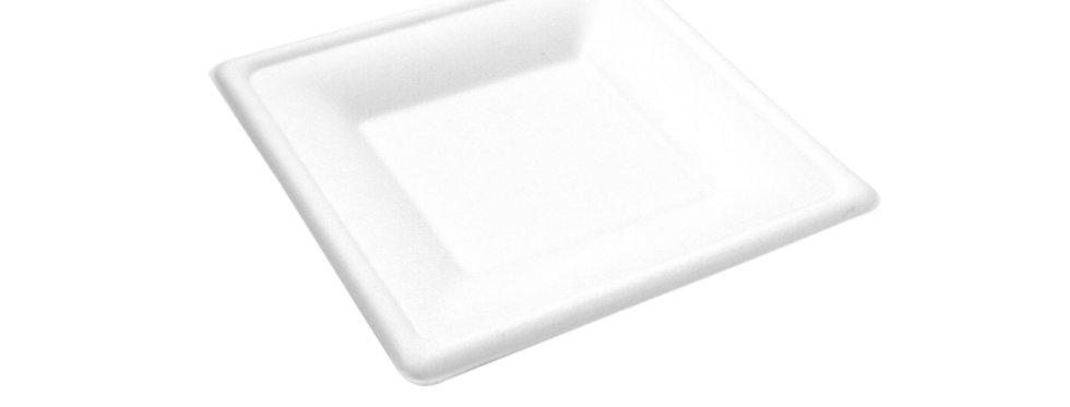15 cm-es négyzet alakú komposztálható cukornád tányér 32 Ft/db