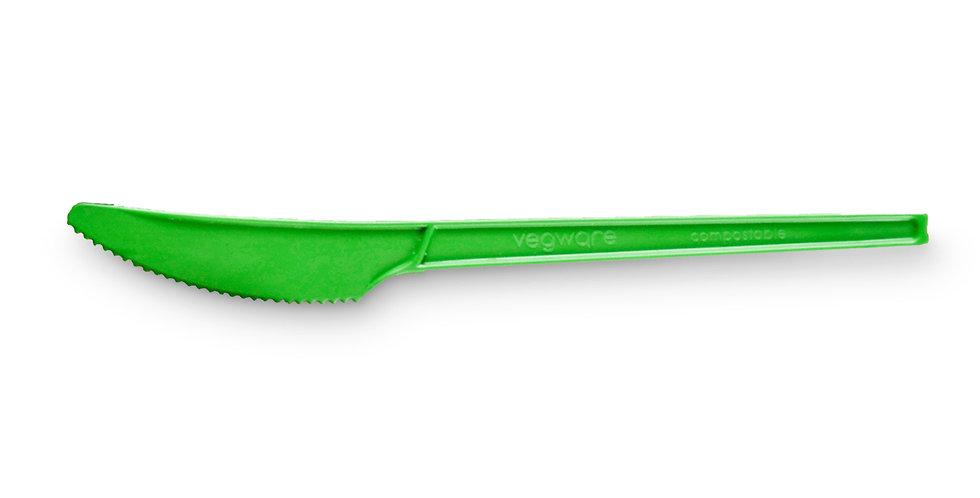 Zöld komposztálható CPLA anyagú kés 14 Ft/db