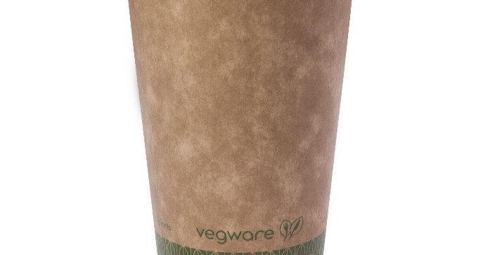 4,7 dl-es barna komposztálható kávés pohár 34,5Ft/db
