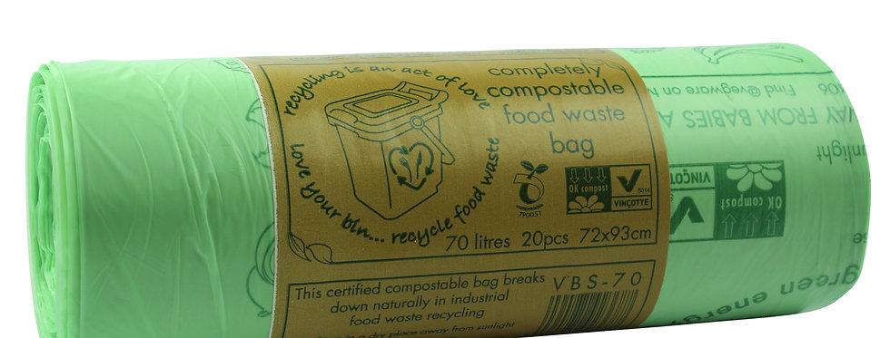 70literes komposztálható szemeteszsák 149,2Ft/db