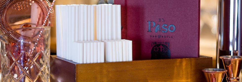 Fehér öko papír szívószál - 140mm hossz 10 Ft/db