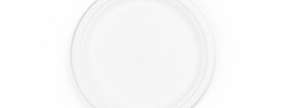 23cm-es környezetbarát eldobható kerek cukornád tányér 35,2 Ft/db