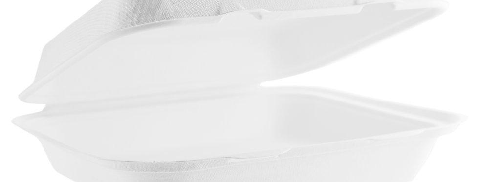 23x20cm-es komposztálható cukornád elviteles doboz 103 Ft/db