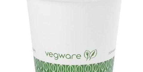 1,1dl-es komposztálható fehér presszós kávés pohár 19,14Ft/db