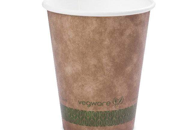 3,6 dl-es barna komposztálható kávés papírpohár 33 Ft/db