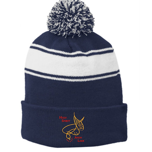 HOLY SPIRIT EMBROIDERED POM HAT