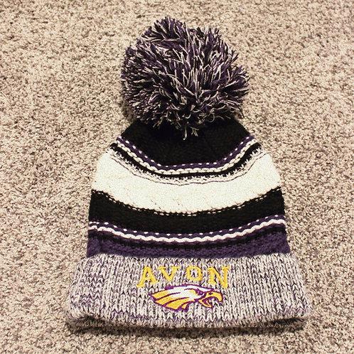 Avon Eagles Knitted Pom Hat