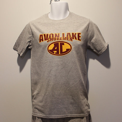 Grey Short Sleeve Avon Lake ShoremenT-shirt - Redwood