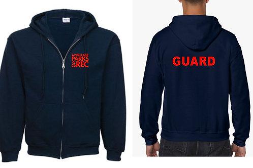 Avon Lake Life Guard Full Zip Hooded Sweatshirt