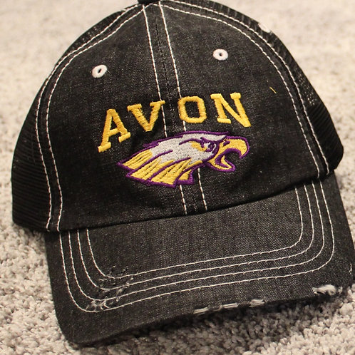 Avon Eagles distressed ball cap