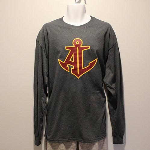 Dark Grey Long Sleeve AL Anchor T-Shirt - Redwood