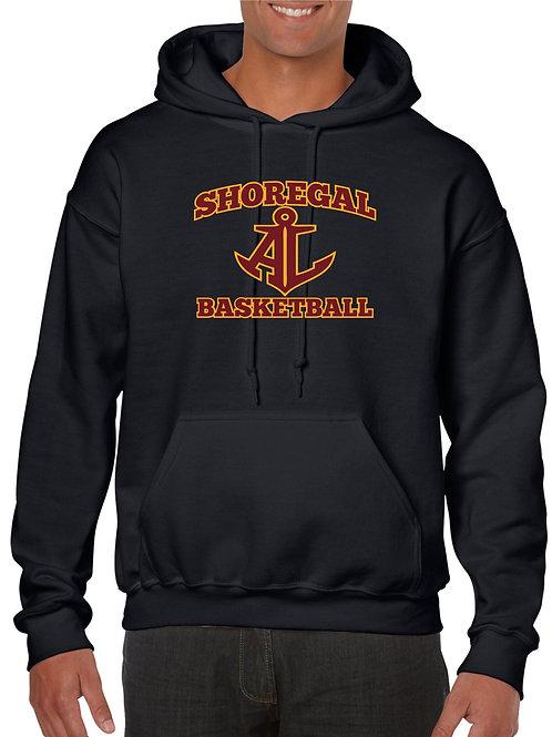 Black Shoregal Basketball Hooded Sweatshirt