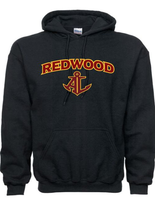 BLACK REDWOOD HOODED SWEATSHIRT