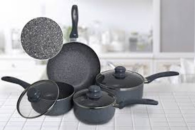 7pc Marble Coated Cookware Set