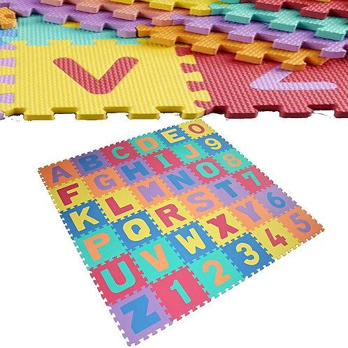ALPHABET & NUMBERS SOFT FOAM PLAY PUZZLE MATS CHILDREN KIDS PLAY MAT
