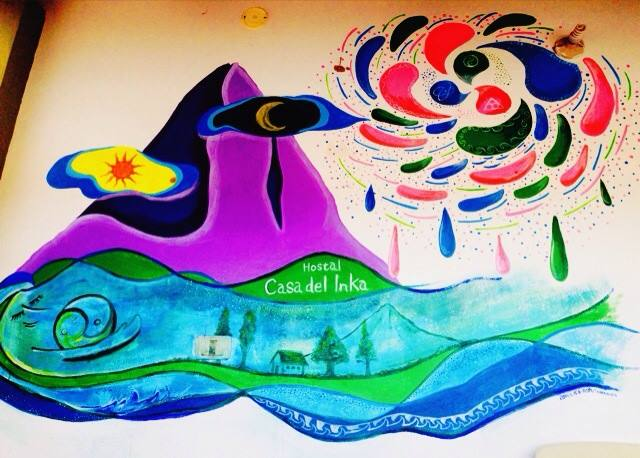 壁画@peru hostal casa del Inka
