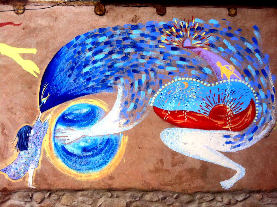壁画@peru hotel BEHO