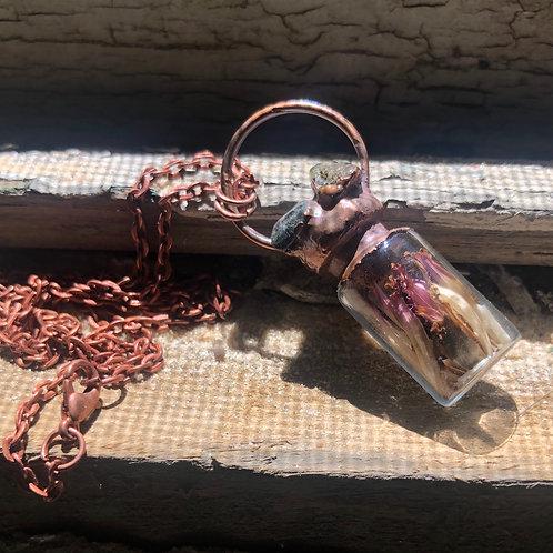 Human Bone Copper Vial Necklace