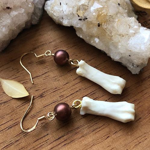 Armadillo Bone Earrings