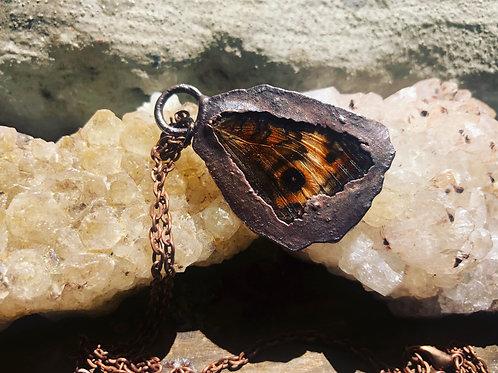 Copper butterfly wing pendant