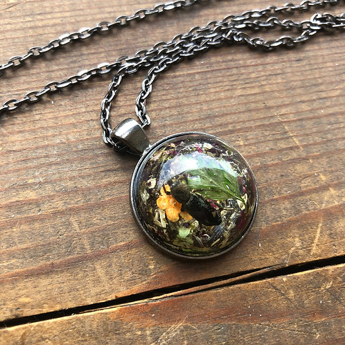 Resin Beetle Necklace
