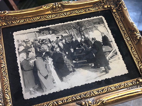 Framed Funeral Photo
