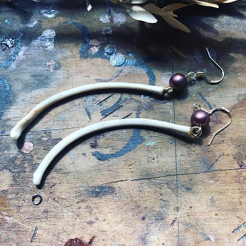 Raccoon Rib Earrings