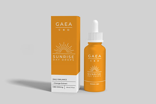 Gaea CBD Sunrise Tincture - 500mg with Orange Extract