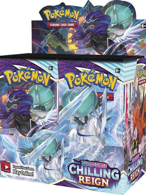 Pokemon Sword & Shield 6 Chilling Reign - Booster box