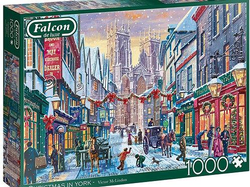 Falcon De Luxe - Christmas In York 1000 Piece Jigsaw Puzzle