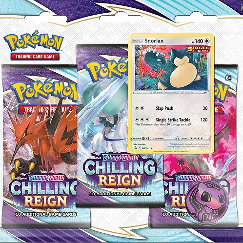 Pokemon - Sword & Shield 6 Chilling Reign -Check lane triple booster pack