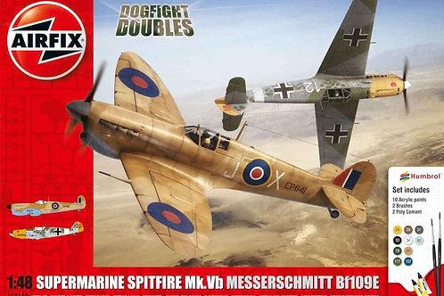 Airfix Spitfire Mk.Ia Messerschmitt Bf109E-4 Dogfight Double Gift Set