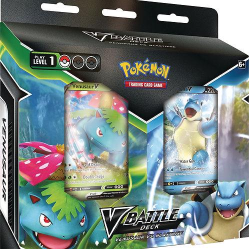 Pokemon - Blastoise V & Venusaur V Battle Deck Bundle