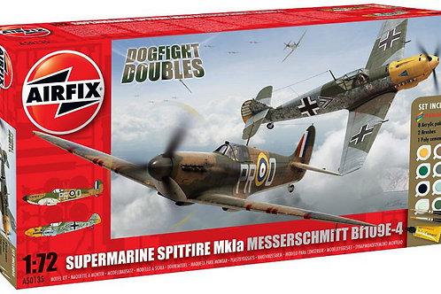 Airfix Spitfire Mk.1a + Messerschmitt BF109E-4 Dogfight Double