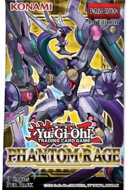 Yu-Gi-Oh Phantom Rage Booster Packs