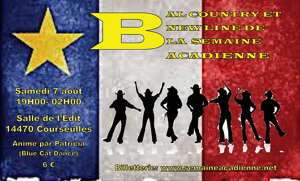 Affiche Bal Country SEMAINE ACADIENNE 7