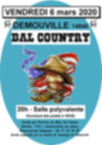 AFFICHE DEMOUVILLE BAL COUNTRY 6 MARS 20