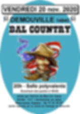 AFFICHE DEMOUVILLE BAL COUNTRY 20 nov 20