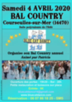 Blue Cat Dance Affiche Bal Country Annue