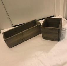 Wood Floral Boxes