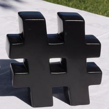 Ceramic Hashtag