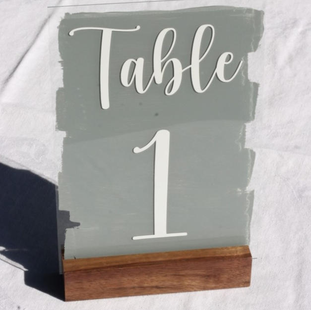 Glass Table Numbers