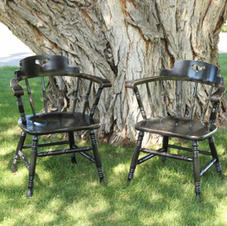 Vintage Black Chairs