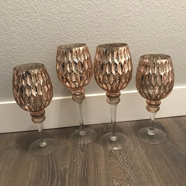 Rose Gold Candle Vases